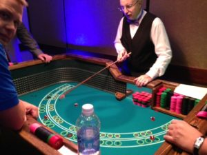 Casino event Yahtzee table and dealer